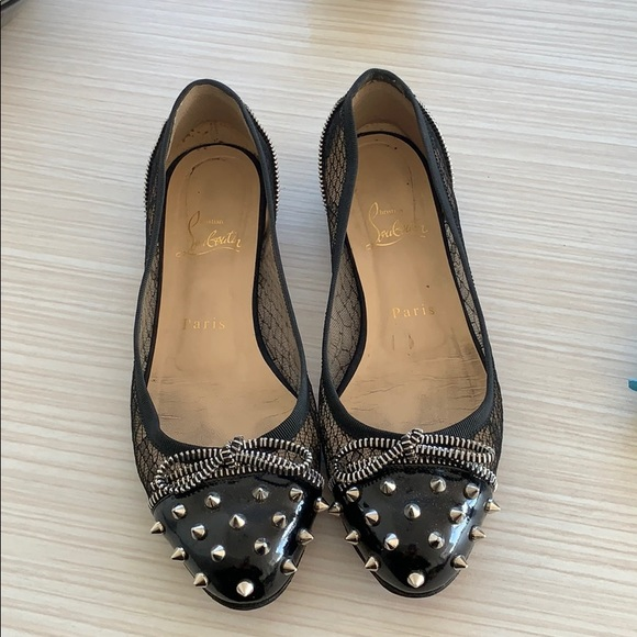 517078bd3d4 Christian Louboutin Candy flats Lace and Patent